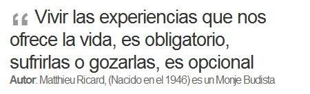 Vivir experiencias