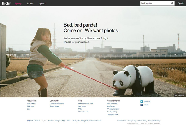 flickr: bad panda error